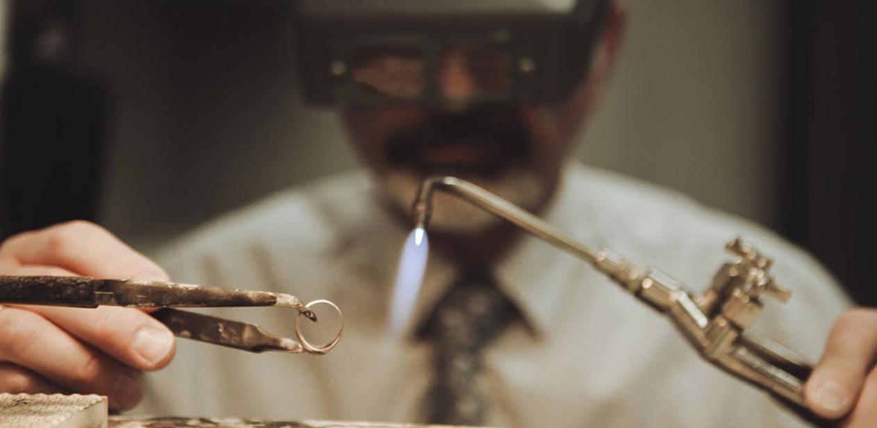 Man works on resizing ring